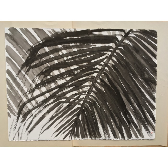 Palm 1 frame black wood
